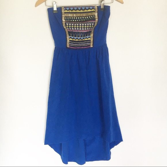 Maurices Dresses & Skirts - Maurices Size XS Strapless High-low Beaded Dress